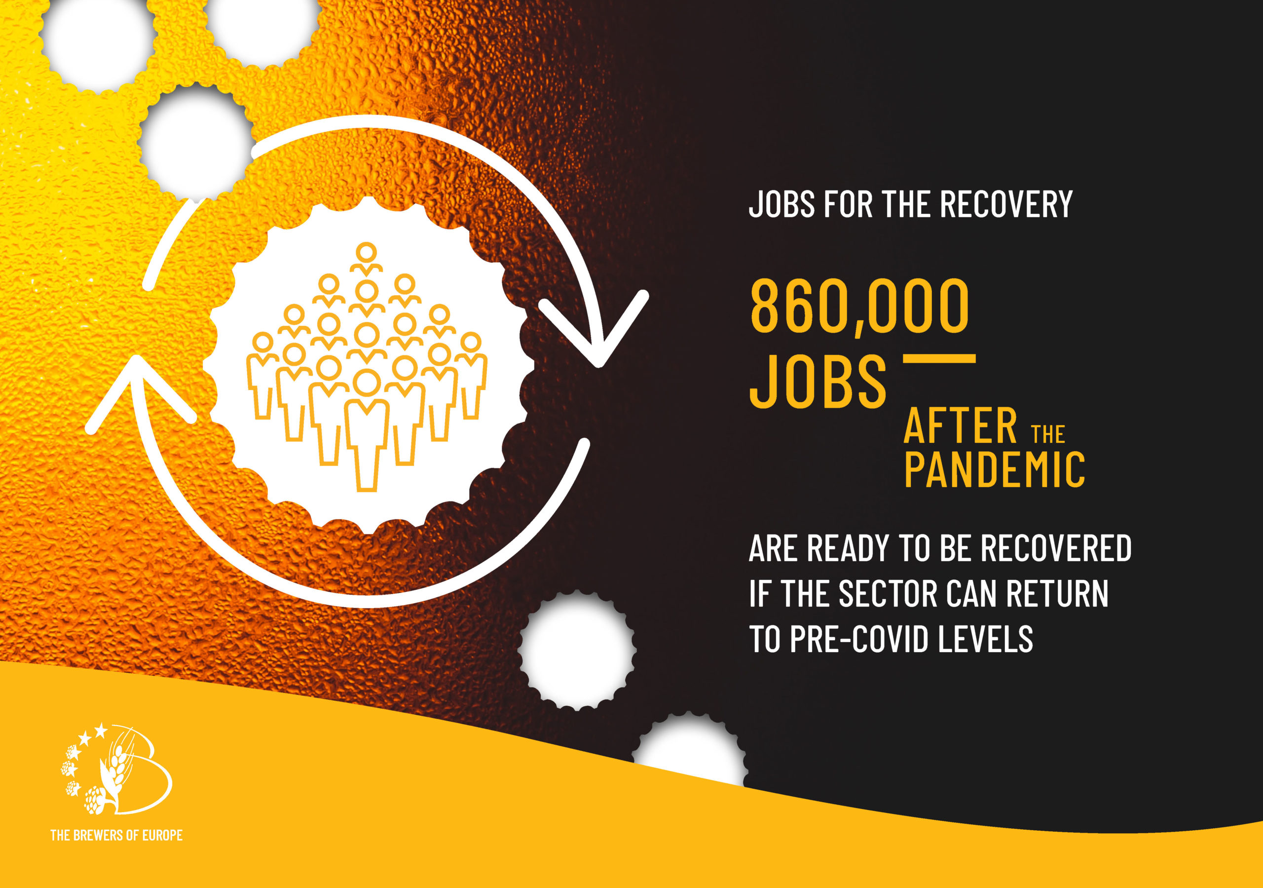 860,000 jobs are ready to be recovered if the beer sector can return to pre-covid levels